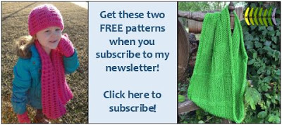 Get a free knitting pattern and a free crochet pattern when you subscribe!