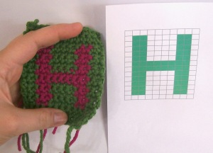 How to crochet pictures or letters, Intarsia crochet tutorial by April Garwood of Banana Moon Studio
