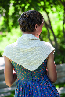 Glen Lennox Shawl from Free-Spirit Shawls. Knitting book review from Banana Moon Studio