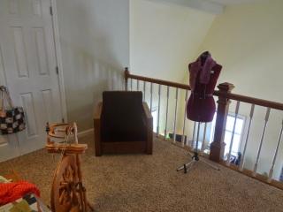 crochet and knit designer's studio, April Garwood, Banana Moon Studio