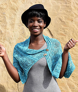 Tide wrap, a crochet pattern by April Garwood of Banana Moon Studio for Ancient Arts Fibre Crafts
