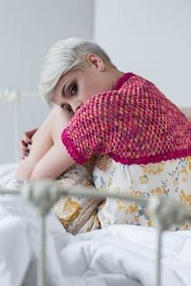 Crochet shrug pattern in puff stitch by April Garwood of Banana Moon Studio, for Interweave Crochet