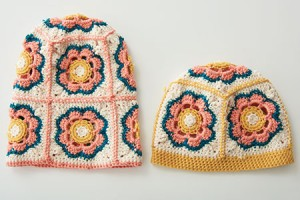 Flowered crochet hat pattern by April Garwood of Banana Moon Studio for Interweave Crochet