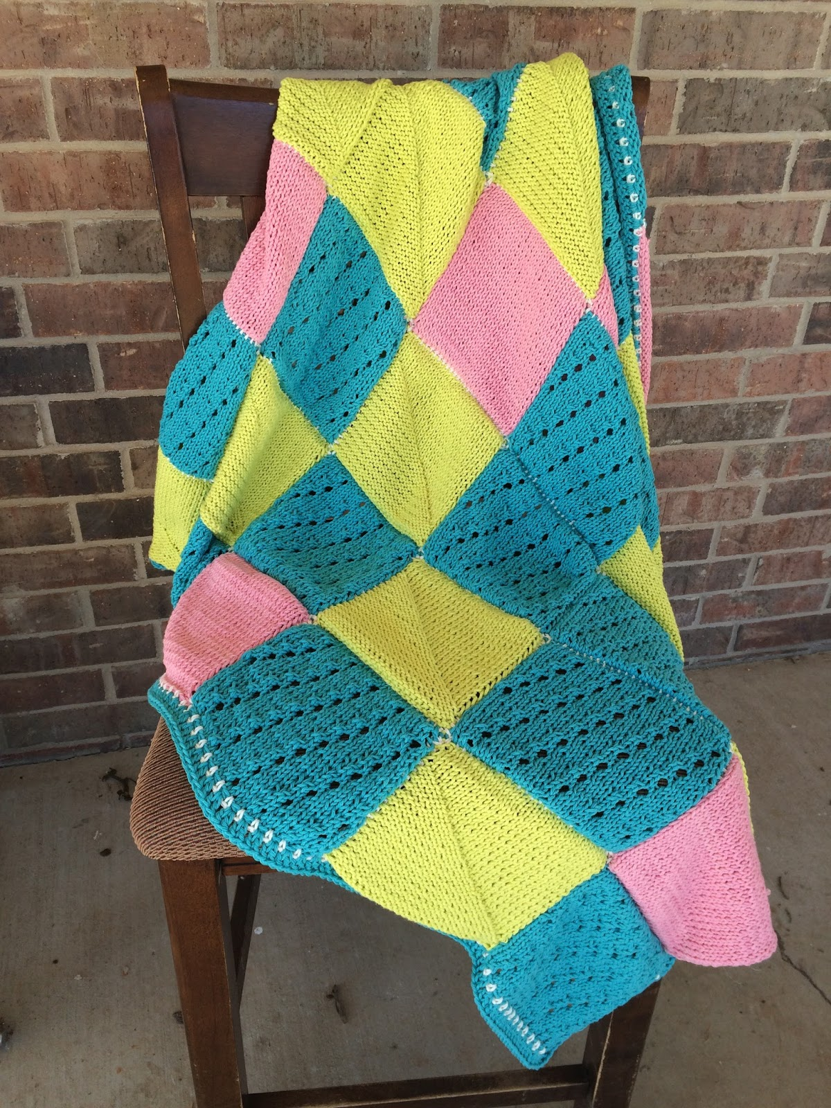 First Time S A Charm Knit Blanket Textured Square