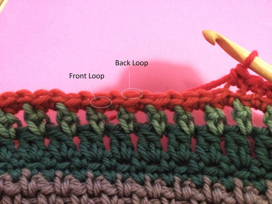 Learn to crochet in the back loop only, or BLO. Photo tutorial.