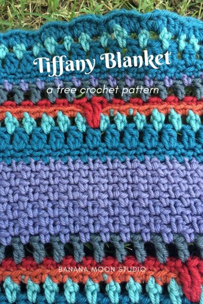 Tiffany Blanket, a free baby blanket crochet pattern from Banana Moon Studio