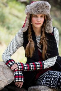 Crochet mitts, crochet fingerless gloves, crochet gauntlets pattern by April Garwood for Interweave Crochet