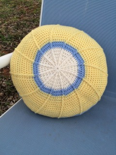 Crochet throw pillow free crochet pattern by April Garwood of Banana Moon Studio