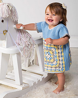 Crochet tunic for a baby by April Garwood of Banana Moon Studio