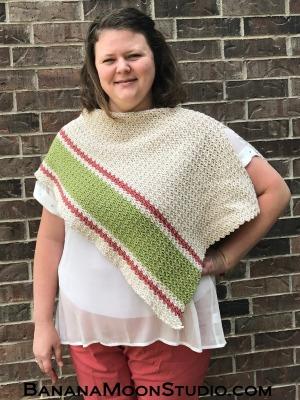 Patina Poncho free crochet pattern by April Garwood of Banana Moon Studio