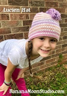 Slouchy hat crochet pattern by April Garwood of Banana Moon Studio