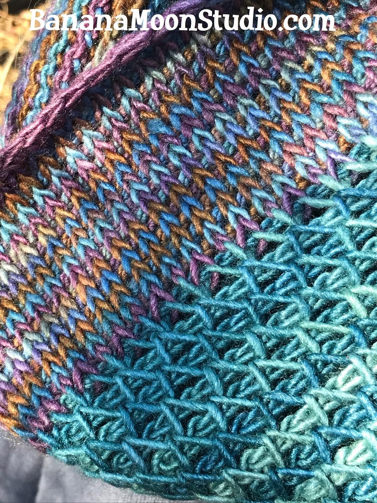 Tunisian Crochet Cowl Free Pattern Featuring Tunisian Smock Stitch