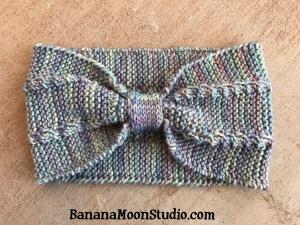 Knit headband pattern by April Garwood of Banana Moon Studio
