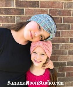 Knit and Crochet headband patterns by April Garwood of Banana Moon Studio
