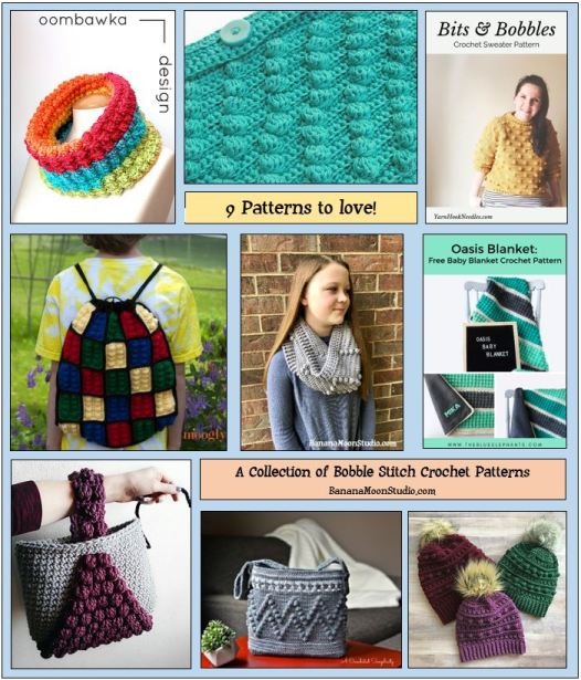 Crochet Bobble Stitch Patterns feature graphic