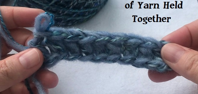 How to crochet with two strands of yarn held together, video tutorial
