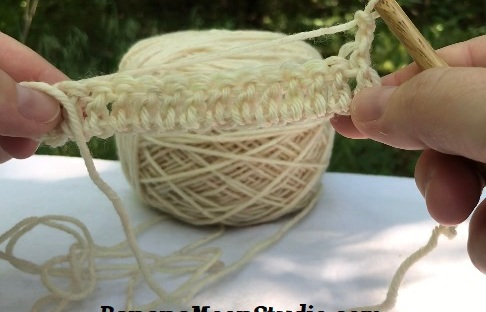 Learn the double crochet stitch, a video tutorial