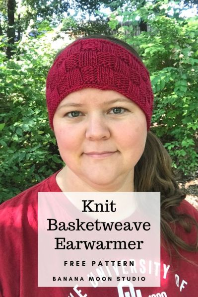 Basketweave Earwarmer Headband Free Knitting Pattern from Banana Moon Studio