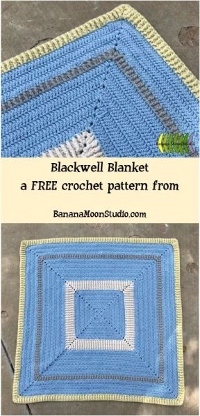 Free crochet pattern for a baby blanket from Banana Moon Studio