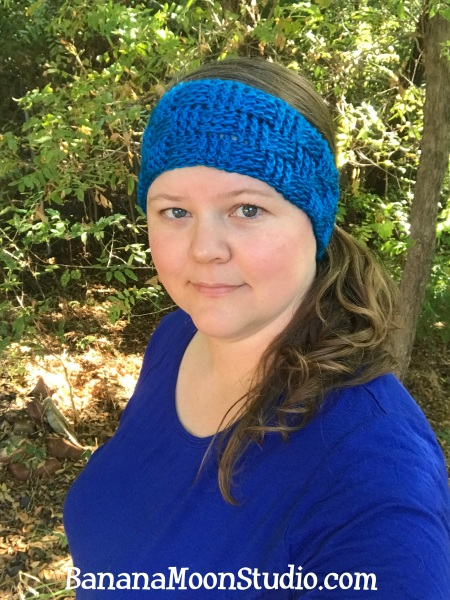 Piedmont Headband, a free crochet pattern for fall and football season, from Banana Moon Studio