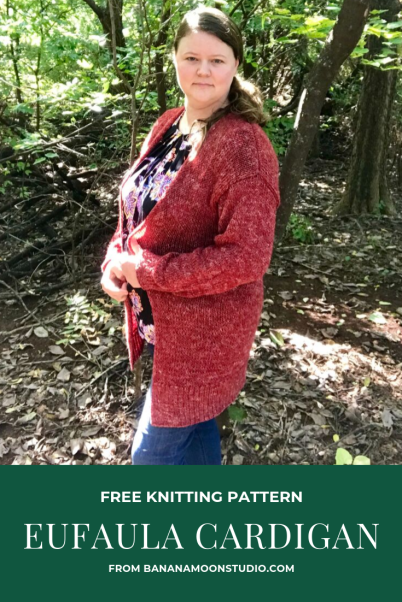 Eufaula Cardigan, a free knitting pattern for this casual women's cardigan from Banana Moon Studio
