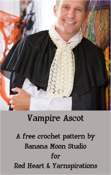 Vampire Ascot crochet pattern by Banana Moon Studio for Red Heart