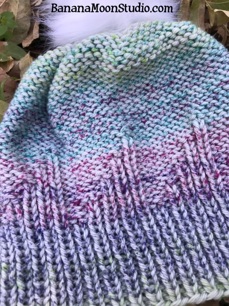 Ripley Hat, a free knit hat pattern from Banana Moon Studio