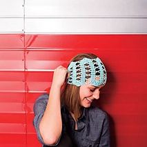Crochet lace headband, crochet pattern, Scamp Bandana by April Garwood of Banana Moon Studio for Interweave Crochet