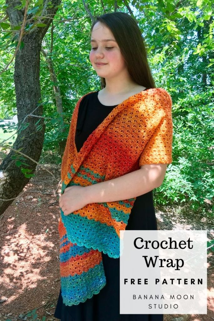 Crochet wrap free pattern from Banana Moon Studio!