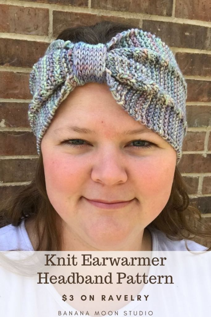 Knit earwarmer headband pattern from Banana Moon Studio! #knitearwarmer #knitheadband