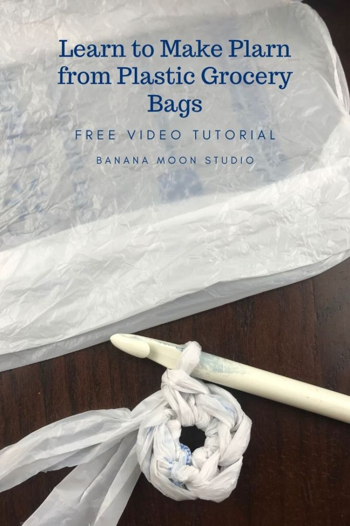 Learn to make plarn from plastic grocery bags with this video tutorial from Banana Moon Studio!