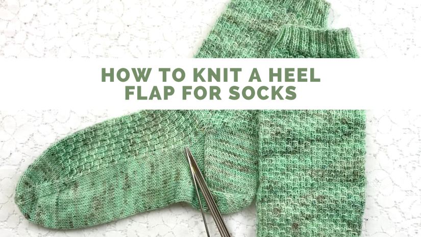 How to Knit the Heel Flap of a Sock, video tutorial from Banana Moon Studio #howtoknitsocks