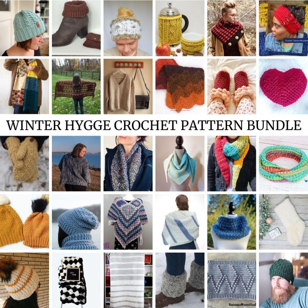 Cozy Winter Hygge crochet pattern bundle!