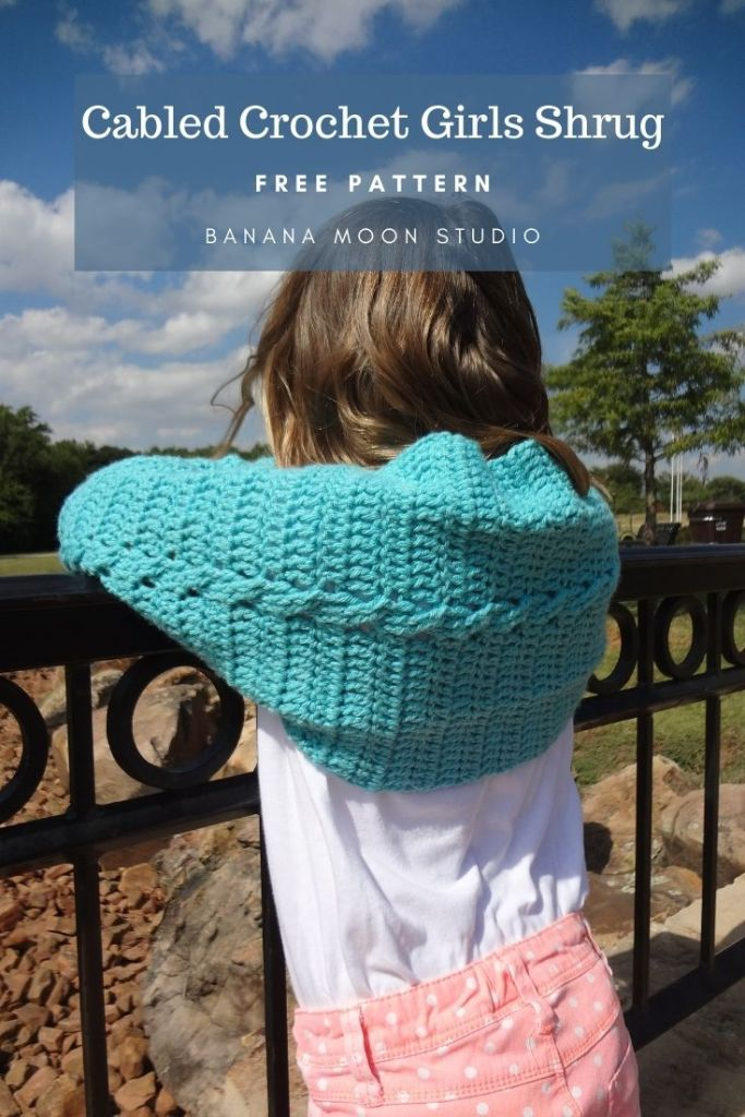 Crochet girls shrug free pattern from Banana Moon Studio!